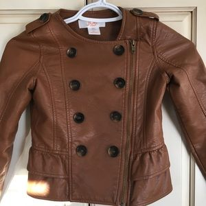 Adorable faux leather jacket for girls size 6-7